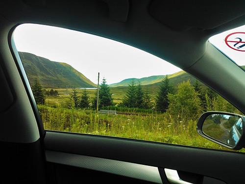 סקוטלנד מחלון הרכב
