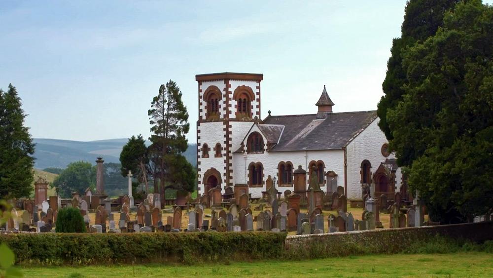 בית הקברות בכפר הולדתה של ג'יין, בשפלה הסקוטית, בו עומדת מצבה לזכרה.